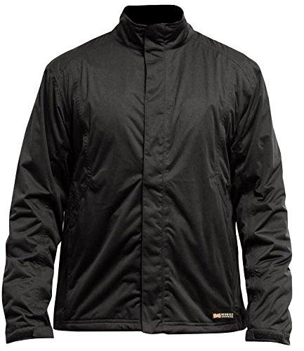 MOBILE WARMING Mens Balmore Heated Rain Jacket Black X-Large