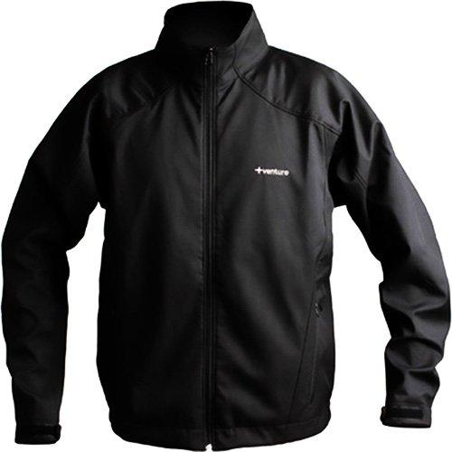 VentureHeat 74 Volt Battery Powered Mens Heated Winter Sport Snowmobile Jacket - Black  Small