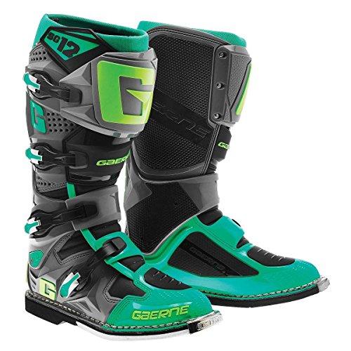 Gaerne SG-12 Mens TurquoiseLime Motocross Boots - 11