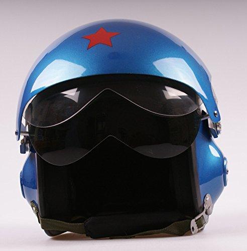 WMN_TrulyStep New Dual  2 Visors Modular Motorcycle Scooter Vespa Biker Pilot Open Face Jet Flight Flip Up 34 Helmet Goggles9 Colors XL 61cm  62cm Blue