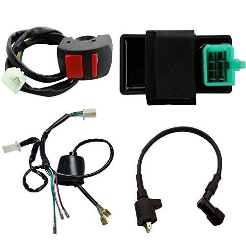 TDPRO Wire Loom CDI Ignition Coil Kill switch for 50cc 110cc 125cc Dirt Pit Bike ATV