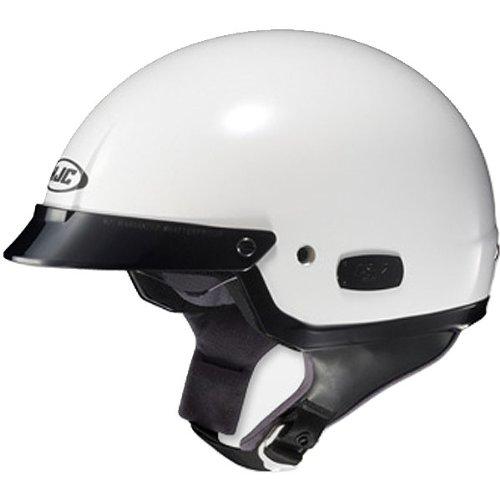 HJC Solid IS-2 Half 12 Shell Motorcycle Helmet - White  Medium