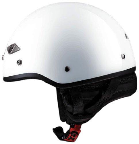 LS2 Helmets HH568 Half Helmet Solid Pearl White Medium