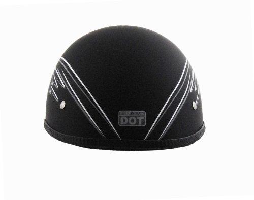 Vega XTS Half Helmet with Eagle Graphic Black WhiteGrey Medium