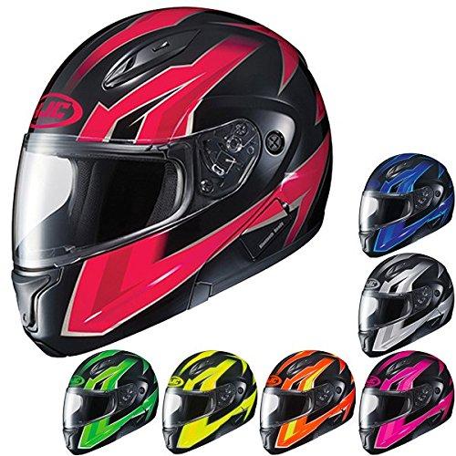 HJC CL-Max2 Ridge ModularFlip Up Motorcycle Helmet OrangeBlack 4X-Large