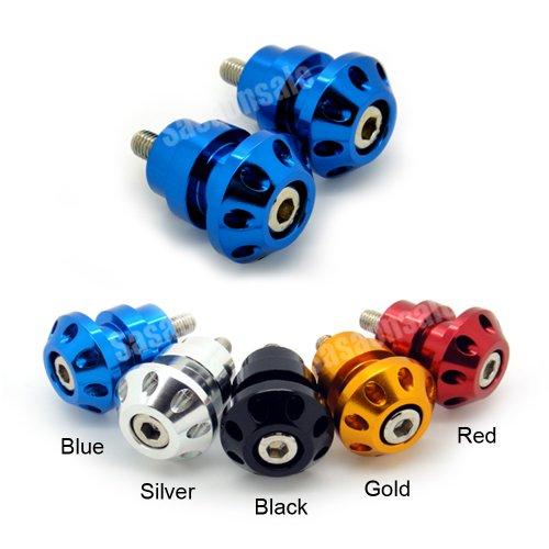 MIT Motors - BLUE - 8mm Universal Swingarm Spools - HONDA CBR F1 F2 F3 F4 F4i 600 900 929 954 1000 RR RVT 1000 RC51 SP1 SP2 DUCATI 749 999 1098