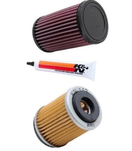 K&N ATV Air Filter  Oil Filter Combo 1999-2003 Yamaha YFM250 Bear Tracker  YA-4001  KN-143