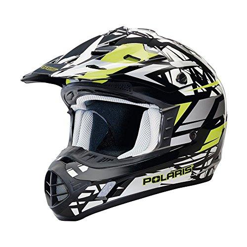 OEM Polaris Snowmobile Black Lime Punch Tenacity 20 Helmet Polycarbonate Shell DOT Approved - Large