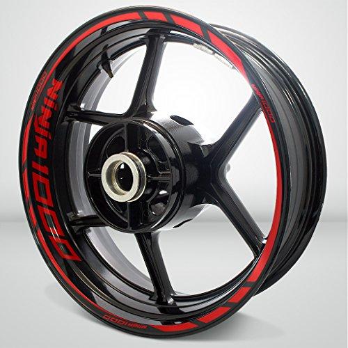 Kawasaki Ninja 1000 Gloss Red Motorcycle Rim Wheel Decal Accessory Sticker