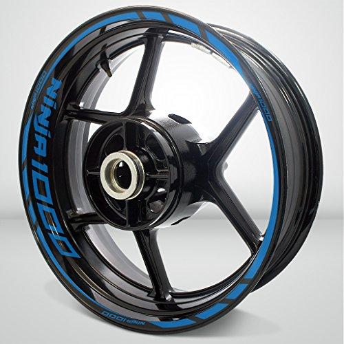 Kawasaki Ninja 1000 Matte Blue Motorcycle Rim Wheel Decal Accessory Sticker