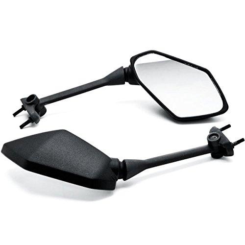 Krator Black Replacement Motorcycle Mirrors Aftermarket For 2011-2014 Kawasaki Ninja 1000Z1000SX