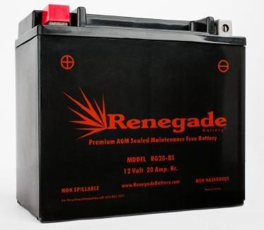 Motorcycle Battery RG20-BS Harley 1989 Softail Custom Part 66672-96 65991-75C 65991-82A 65991-82B BTX20-BS BTX20H-BS YTX20-BS