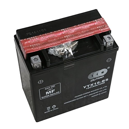 TDPRO YTX16-BS 12V Motorcycle Battery for Suzuki VS1400 LT-A500F VL1500 Intruder Boulevard C90 Battery