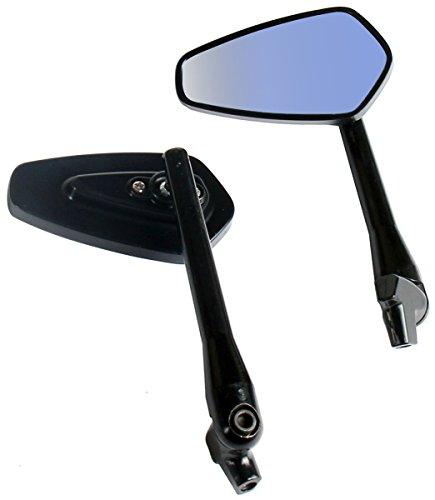 One Pair Black Arrow Rear View Mirrors for 2010 Harley-Davidson Rocker C FXCWC