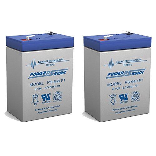 6 Volt 4AH Rechargeable Sealed Lead Acid SLA Battery 6 volt 4amp - 2 Pack