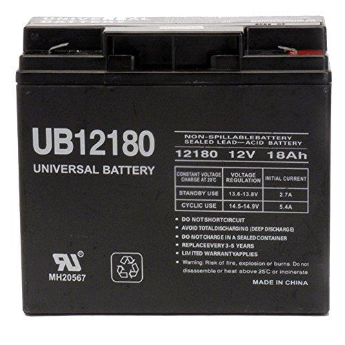 12V 18Ah SLA Sealed Lead Acid Battery UB12180 40648 F2 Terminal
