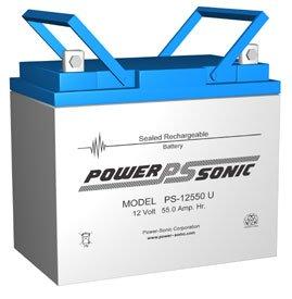 Power-Sonic 2 x 12V55AH Sealed Lead Acid Battery w U Terminal