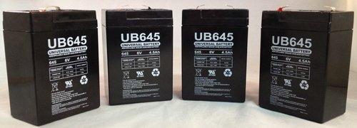 UPG UB645 Sealed Lead Acid Batteries - 4 Pack