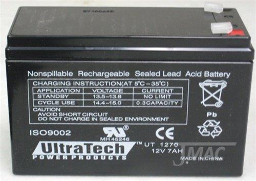 UltraTech UT1270 12V 7 Ah Sealed Lead Acid Alarm Battery UT-1270 - 2 Pack