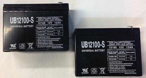 12V 10AH Scooter Battery Replaces Yuasa REC10-12 - 2 Pack