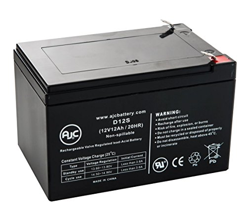 City Bug Sportsman 12V 12Ah Scooter Battery - This is an AJC Brand Replacement