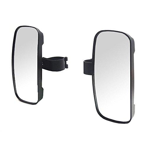 1 pair Side View Mirror with 175 Rust-Proof Iron Bracket for UTV Polaris RZR 800 900 1000 John Deere Gators Updated Version