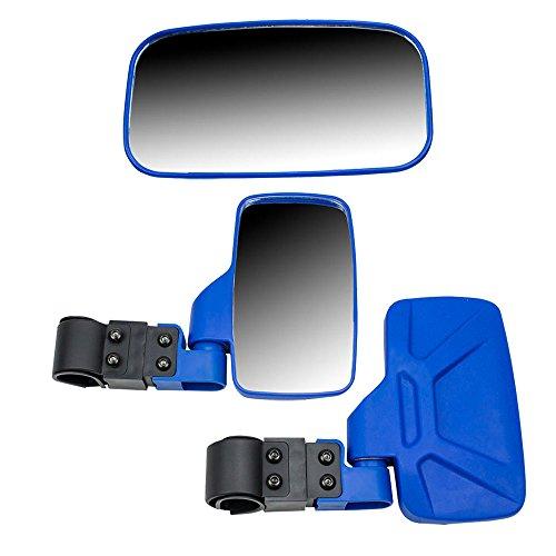 Blue Breakaway Rear Side View Mirrors Side x Side UTV Utility Vehicle w 175 Roll BarCage