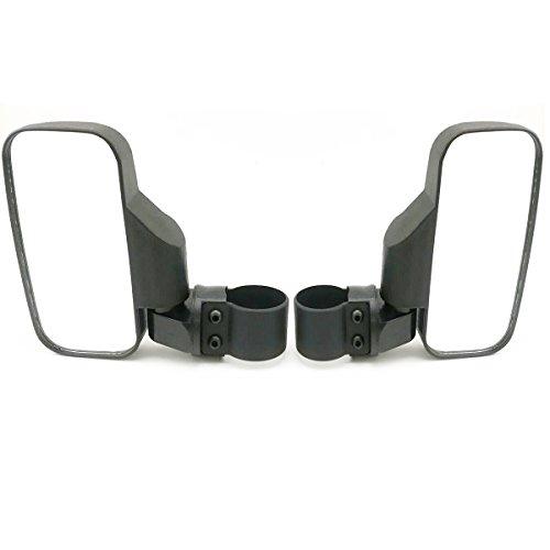 OKSTNO UTV Side View Mirror for 15 - 2 Roll Cage Tempered Glass Breakaway Mirrors for Polaris Ranger RZR Can Am Commander Maverick Gator Rhino