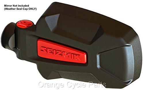 Pursuit Side View Mirror RED Weather Seal Cap Seizmik 18074