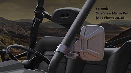 Seizmik 18080 Side View Mirrors ABS Plastic 2016 Model for Polaris Rangers Yamaha Rhino John Deere Gator Bob Cat UTV's