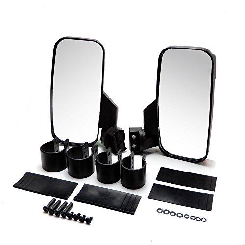 UTV Rear View  Side Mirror Break Away Offroad Mirrors for 15 - 2 Inch Mount Polaris RZR 900S XP 1000 Can Am Maverick X3 John Deere Gator Mirrors