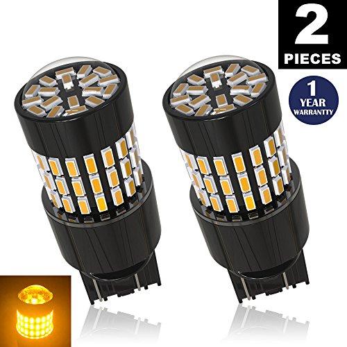 LUYED 2 X 900 Lumens Super Bright 3014 78-EX Chipsets 7440 7441 7443 7444 992 Led Bulb Used For Turn SignalCorner LightsBlinker LightsAmber
