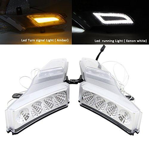 NSLUMO E-Mark Approved Amber LED Side MarkerTurn Signal Lamp for 07-10 Porsche Cayenne 957 Led drl running Daylight White Car Styling