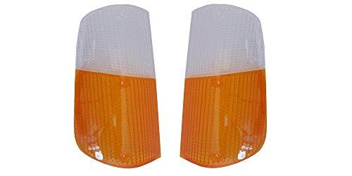 Volvo 240 1975-1985 260 1975-1985 Front Turn Signal Lamp Light Lens Set