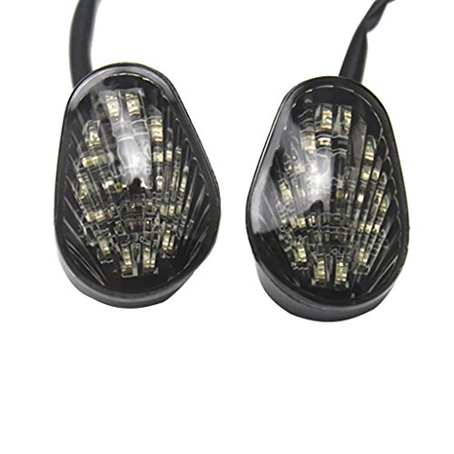 MonkeyJack 1 Pair LED Turn Light Blinker Lamp Smoked Lens Wear Resistant for Yamaha YZF-R1 2002-2014 YZF-R6 2003-2005