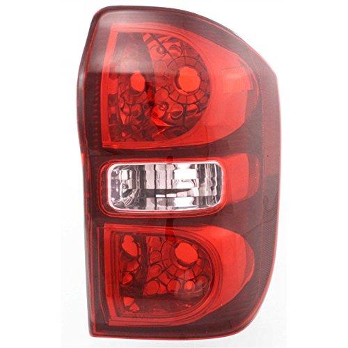 Evan-Fischer EVA15672052087 Tail Light Lamp Passenger Right RH Side Clear Red Lens Halogen