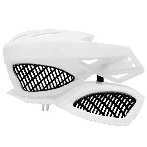 Lozom 78 Motorcycle Handguards Handlebar Hand Guards Brush Bar Protector For Motocross Supermoto Racing Dirt Bike ATV White
