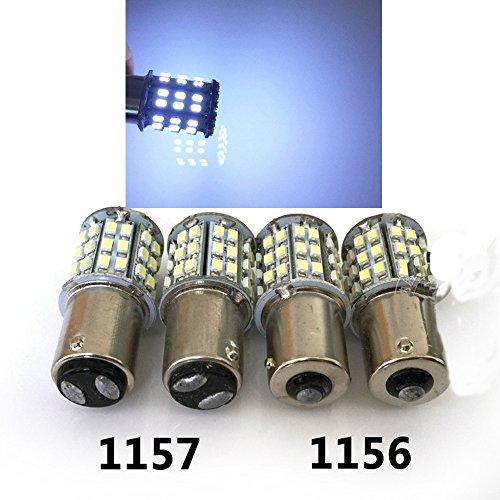 Eaglerich 2PCS 1156 64SMD 1206 LED Car Auto Signal Light Turn Lamp Bulb Car Led S25 Ba15S Car Led Brake Light Brake Light Turn Signal
