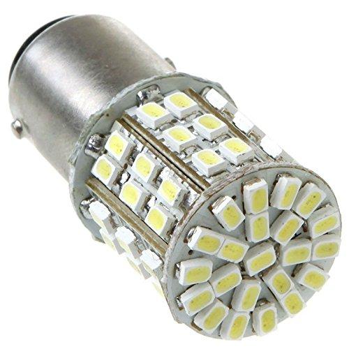 GigaMaxTM White 1157 BAY15D 2057 64 1206 SMD LED Car Tail Brake Stop Turn Light Bulb Lamp 10pcslot