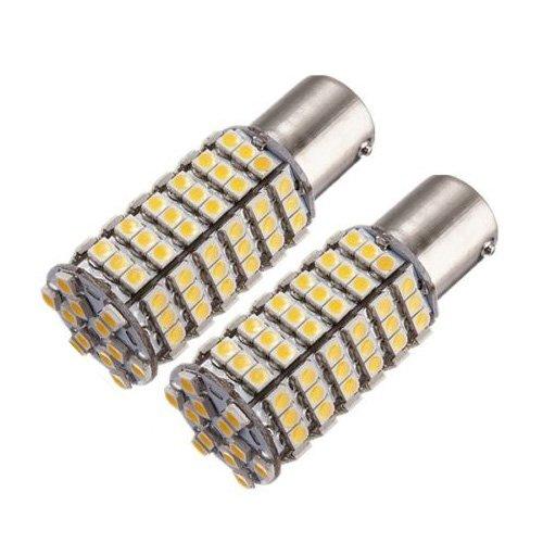 LED Bulbs - TOOGOOR 2x 5W P21W 1156 BA15S 120 SMD LED Warm White Car Reverse Turn Light Bulb 12V