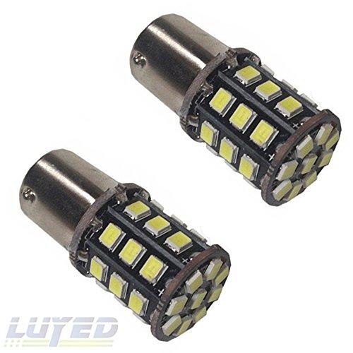 LUYED 2 X 800 Lumens Super Bright 2835 33 SMD 1156 1141 1073 7506 LED Bulbs Car LED Turn Light bulb White