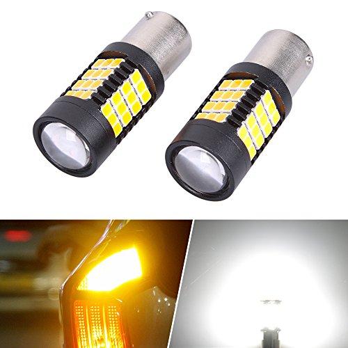 LZHlm 2 X 1156 S25 Ba15s White 1000 Lumens Super Bright 54-smd 2835 Chipsets LED Car Lights Bulb Backup Signal Blinker Stop Brake Turn Lights Tail Light Bulbs 12v - White 2 Pack