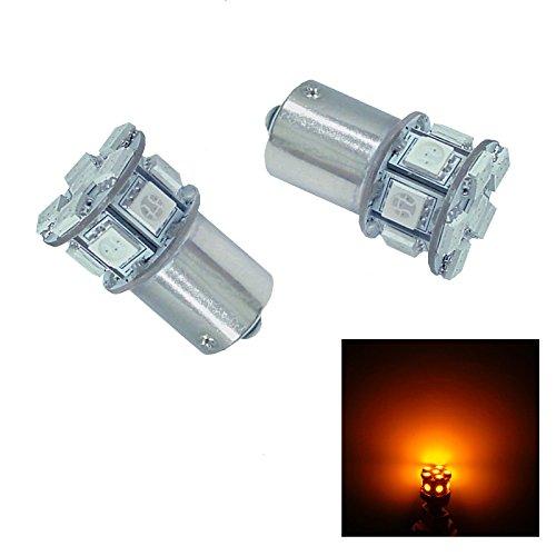 PA 2 x 13 SMD LED Car Tail Backup Rear Turn Light Bulbs 1156 Ba15s AmberYellow
