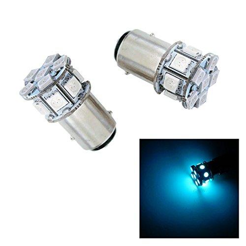 PA 2pcs BAY15D 1157 13 SMD LED Auto Stop Light Tail Light  Turn Signal Light Bulbs Ice Blue-12V