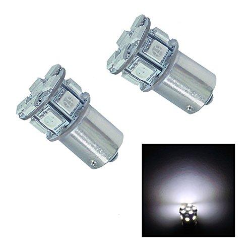 PA2pcs Ba15s 1156 13 SMD LED AUTO Turn Signal Light Side Marker LightBrake Light Bulbs 12V-White