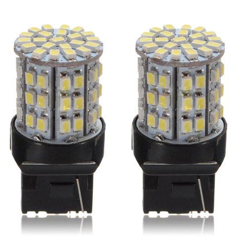 TOOGOOR 2X T20 7443 3020 W215W Car White 64 SMD LED Stop Tail Brake Turn Light Bulb 12V