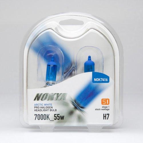Nokya H7 Headlight Bulbs — Arctic White 7000K 55W Stage 1