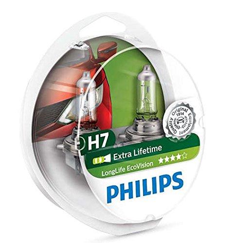 Philips Longlife EcoVision H7 Headlight Bulbs Twin Pack