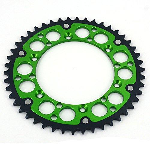 JFG RACING CNC 48T Rear Chain Sprocket - Kawasaki KDX200 84-06 KDX220R 97-05 KDX250 91-94 KLX250R 94-96 KLX250S 06-07 KLX250S 09-15 KLX300R 97-08 KLX450R 08-14 KLX650 93-96 - Green