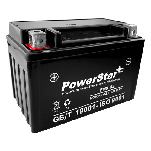PowerStar--Sealed GEL Battery YTX9-BS for 2003–2010 Suzuki ATV LTZ 400 LTZ400 250 QuadSport